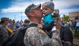 Aviation soldiers home after deployment to Kosovo